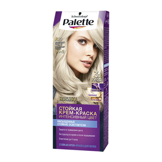 Крем-краска для волос Palette, тон A10 («Жемчужный блондин»)