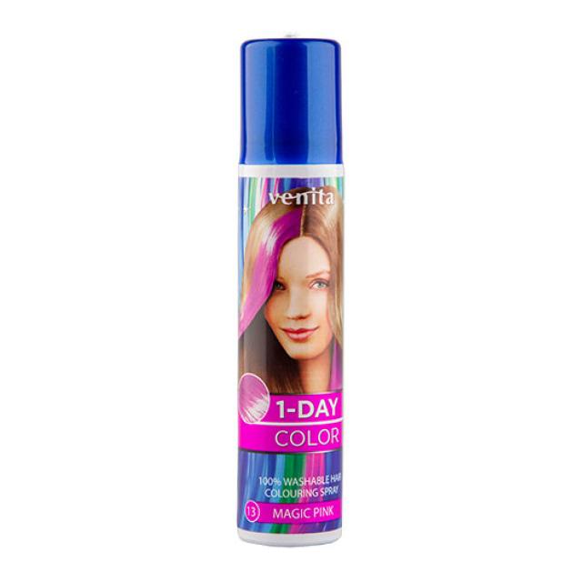 Спрей для волос оттеночный 1-Day Color Venita, тон Magic pink, 50 мл