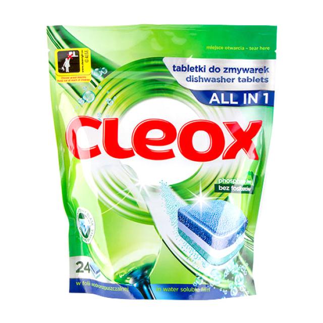 Таблетки для посудомоечных машин «Все в 1» Cleox, 24 × 480 г