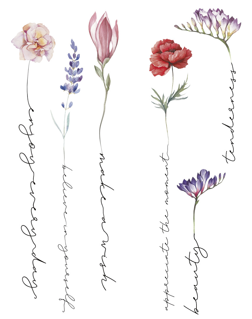 Татуировка для тела DE.CO. Watercolor Story by Miami tattoos (Beauty)