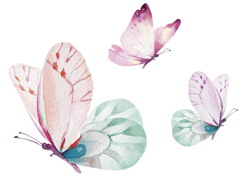 Татуировка для тела DE.CO. Mini Me by Miami tattoos (Butterfly)
