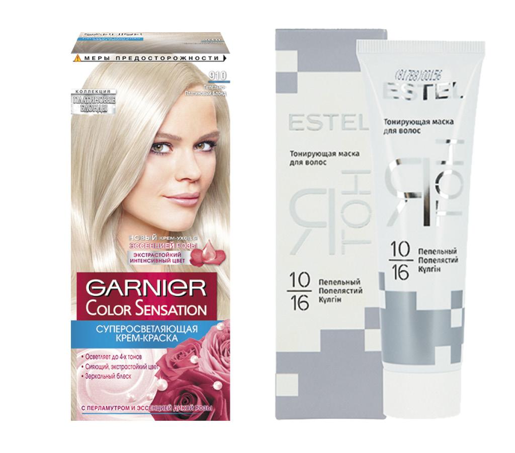 Краска для волос Garnier Color Sensation тон 910 (Пепельно-серебристый блонд)