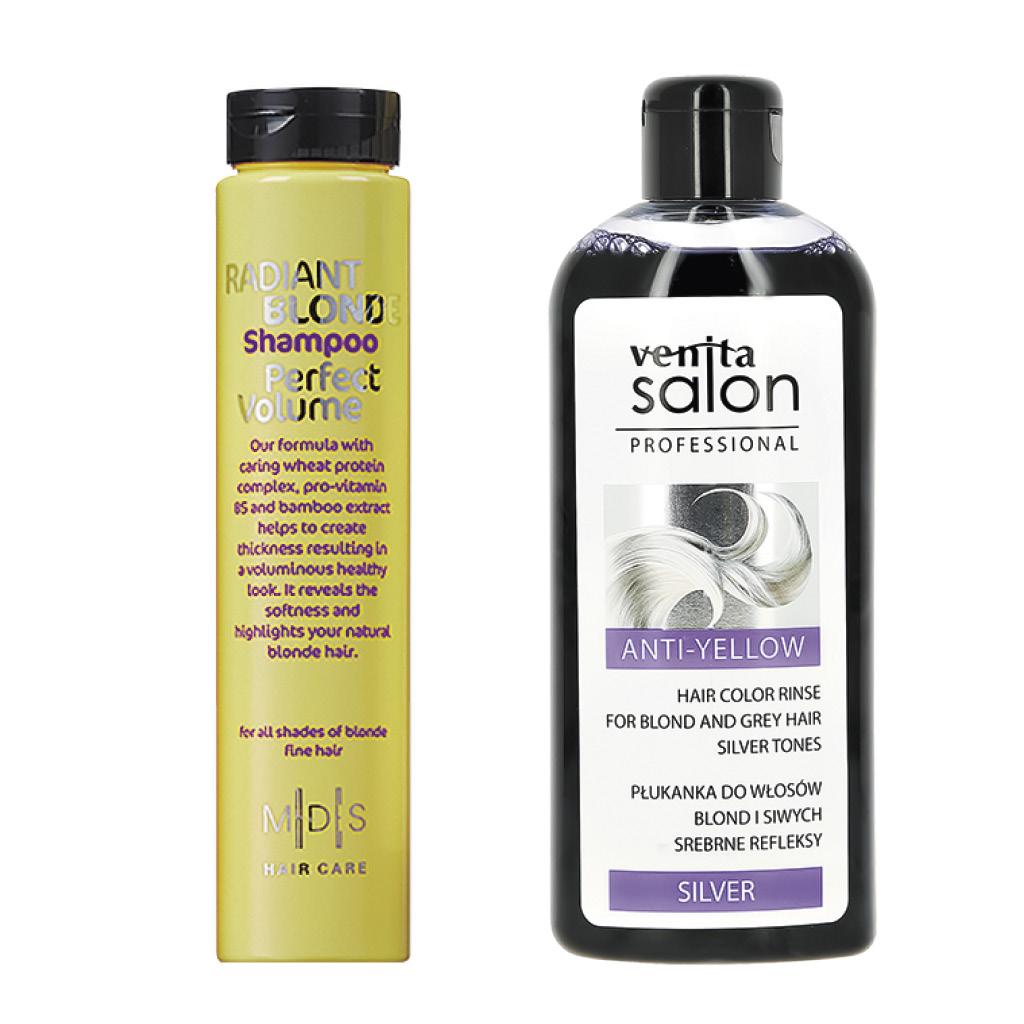 Шампунь для волос Mades Radiant Blonde Revitalising Silver Усилитель блонд (нейтрализует желтизну).