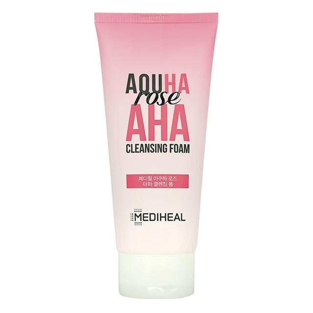 Пенка для умывания Mediheal Aquha с экстрактом розы и AHA-кислотами