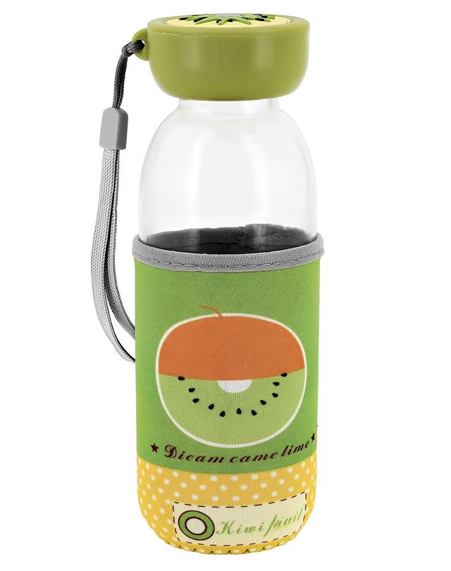Бутылка для воды Fun в чехле с фруктами Киви