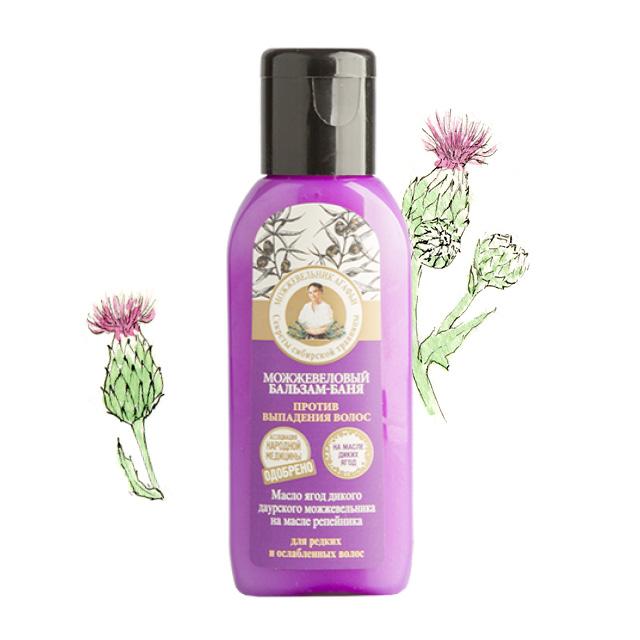 Бальзам-Баня для волос рецепты Бабушки Агафьи можжевельник