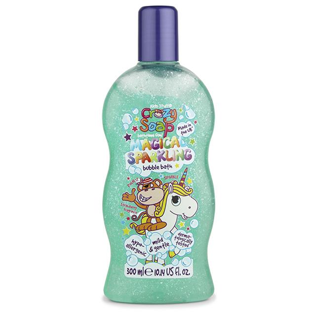 Пена для ванны Kids Stuff Crazy Soap детская с мерцающими пузырьками