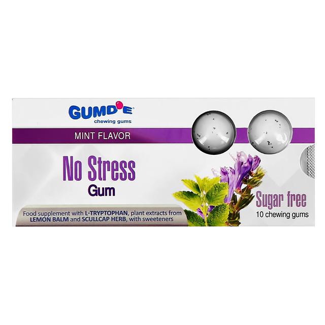 Жевательная резинка Gumd`E Chewing Gums No Stress со вкусом мяты (без сахара)