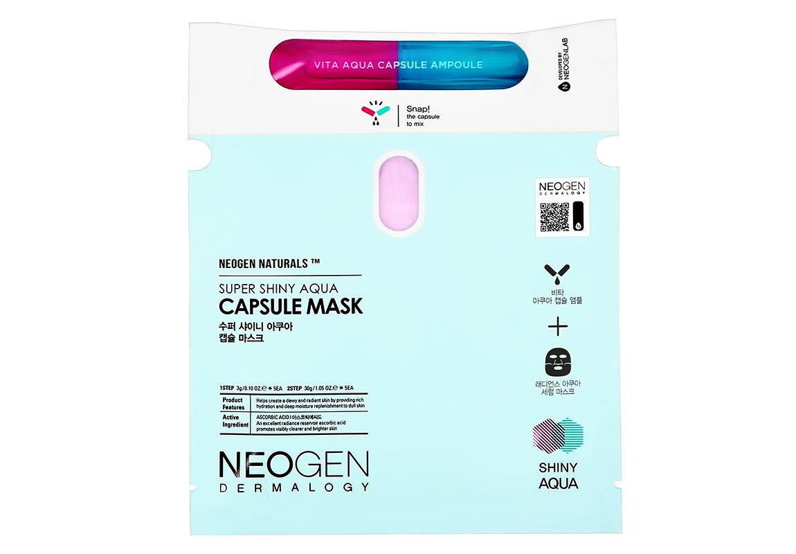 Маска для лица и капсула Neogen для сияния кожи