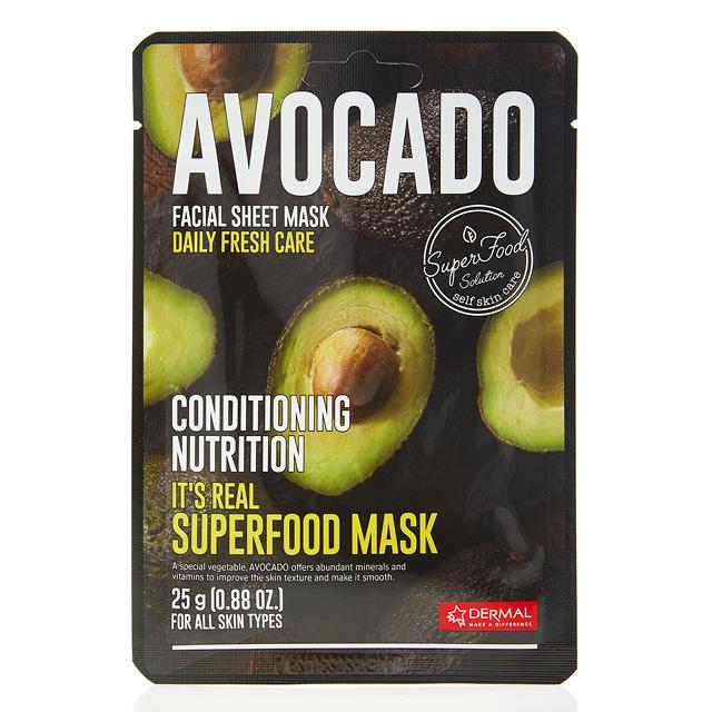 Маска для лица Dermal Superfood с экстрактом авокадо