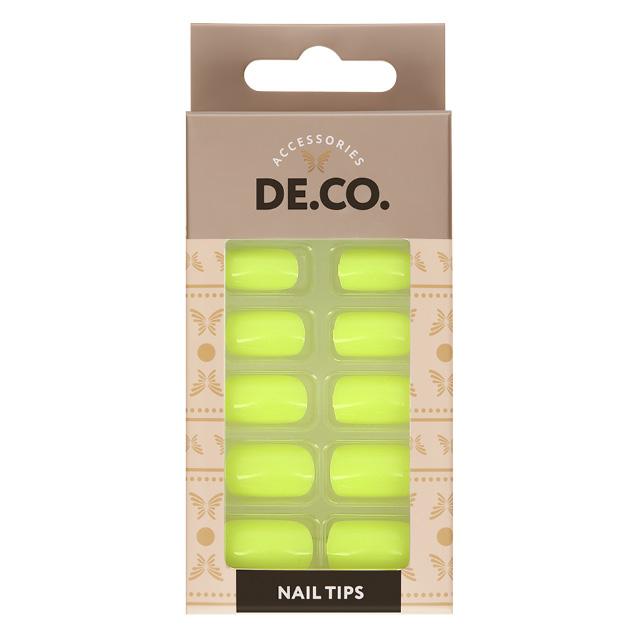 Набор накладных ногтей DE.CO. Glow Neon