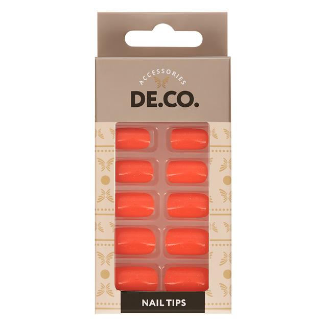 Набор накладных ногтей DE.CO. Glow Orange