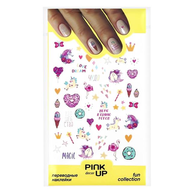 Наклейки для ногтей Pink Up Decor Watercolor