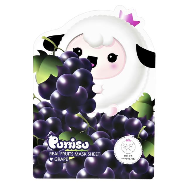 Маска для лица Puttisu детская (виноград)