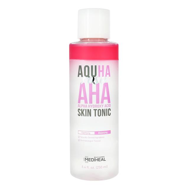 Тонер для лица Mediheal Aquha с экстрактом розы и AHA-кислотами