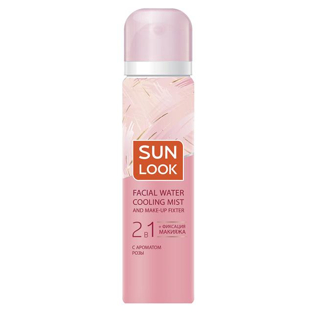 Мист для лица и фиксатор макияжа Sun Look 2 в 1 охлаждающий