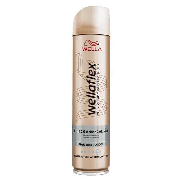 Лак для волос Wella Wellaflex Блеск и фиксация суперсильной фиксации