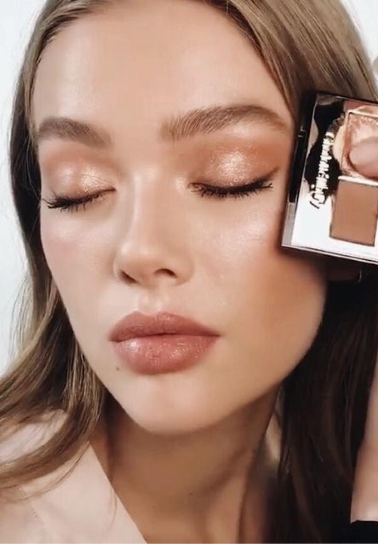 естественный макияж глаз и губ