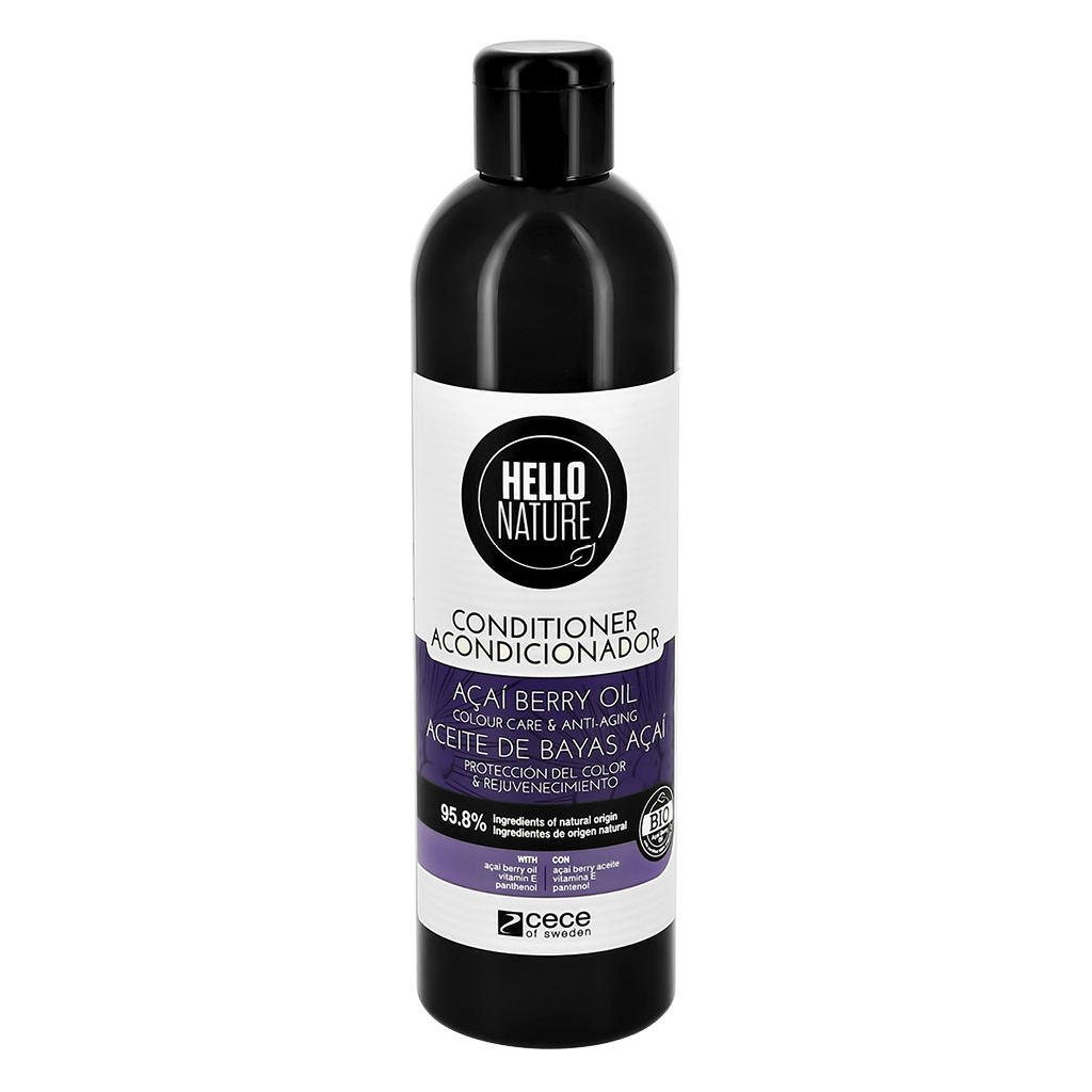 Кондиционер для волос HELLO NATURE Acai Berry Oil с маслом ягод асаи