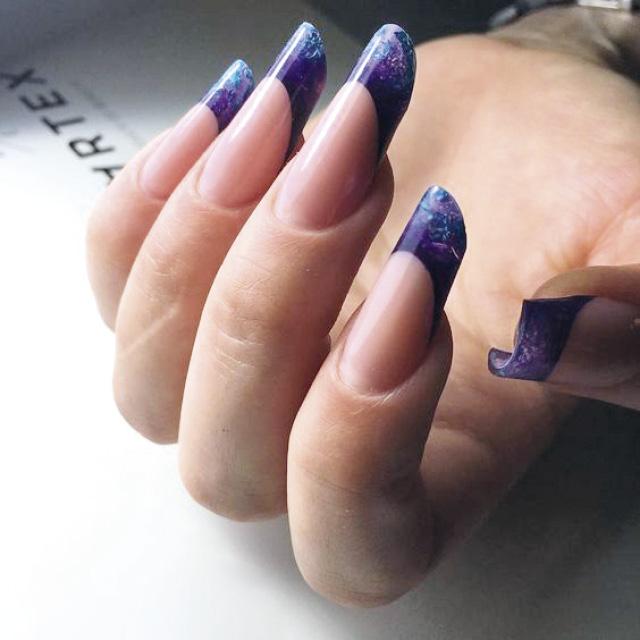 Маникюр на форму ногтей Пайп