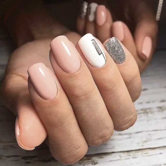 Маникюр на квадратно-овальную форму ногтей