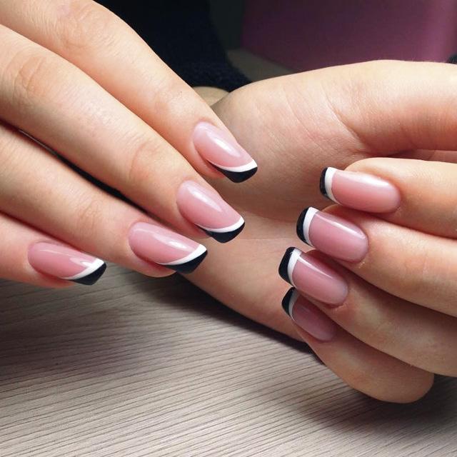 Маникюр на скошенную форму ногтей