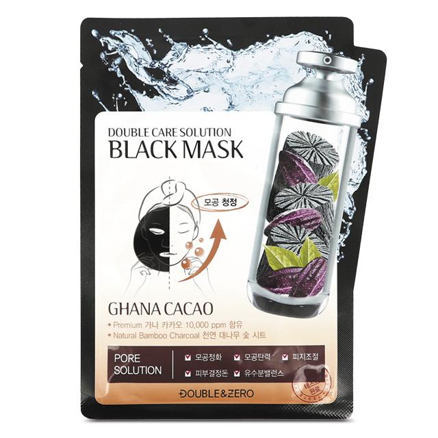 Маска для лица Double & Zero Black Mask с бамбуковым углем