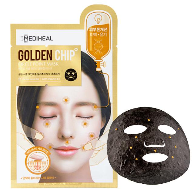 Маска для лица Mediheal Ciracle Point Mask Golden Chip для сияния кожи с массажным эффектом