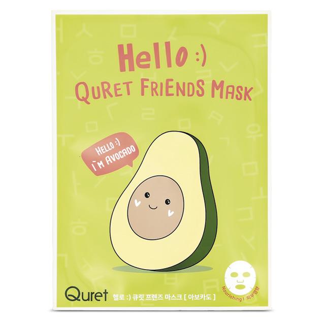 Маска для лица Quret Hello с экстрактом авокадо