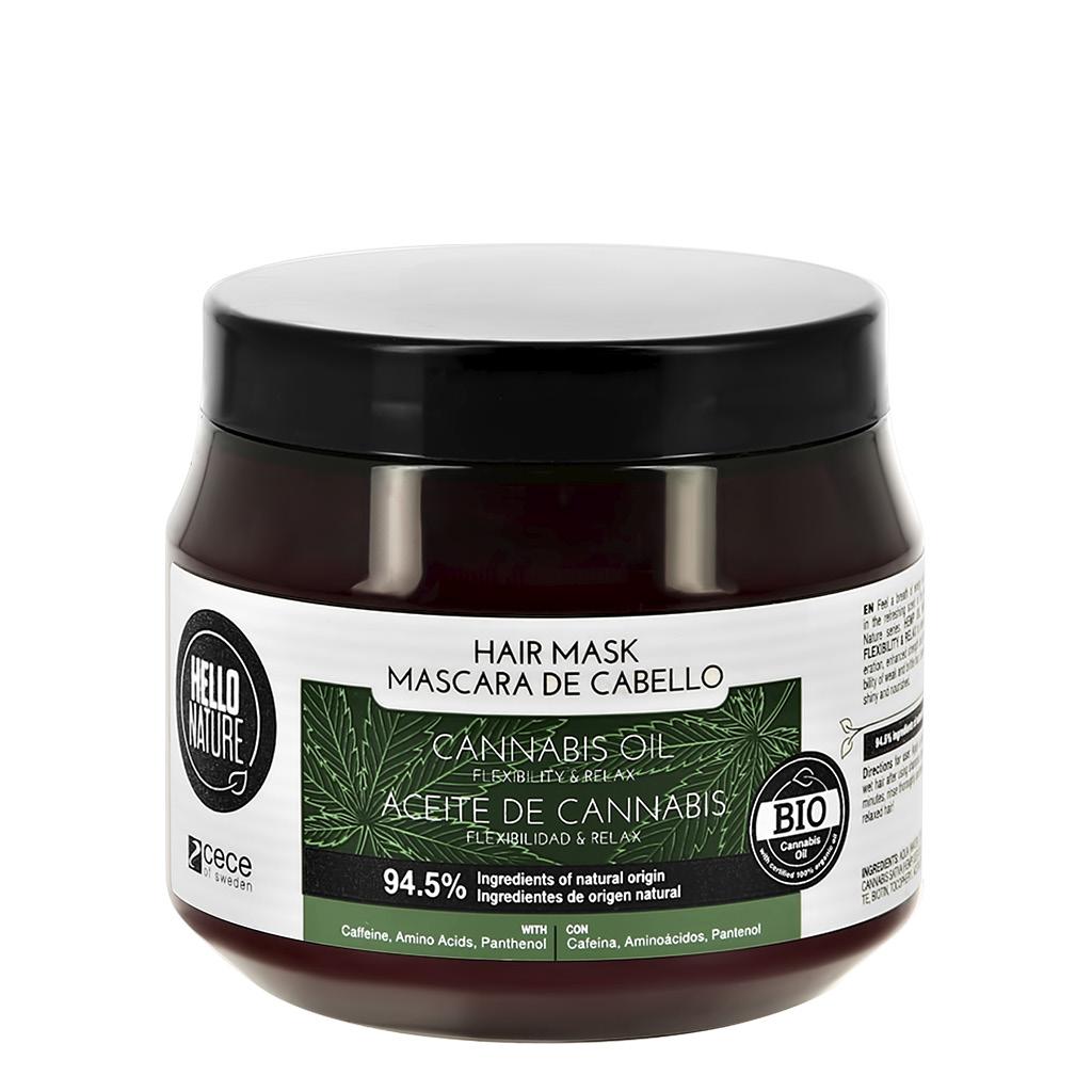 Маска для волос HELLO NATURE Cannabis Oil с маслом конопли