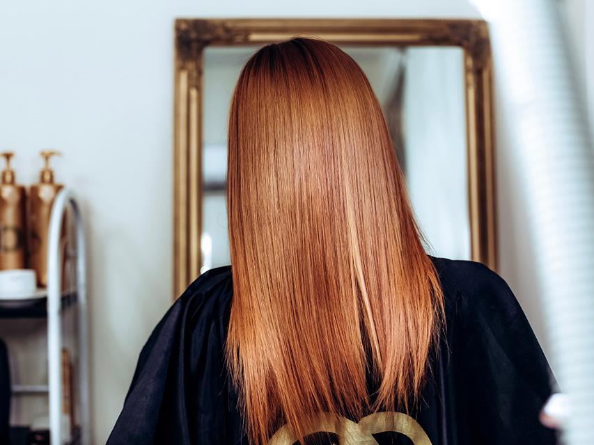 рыжий оттенок краски на волосах