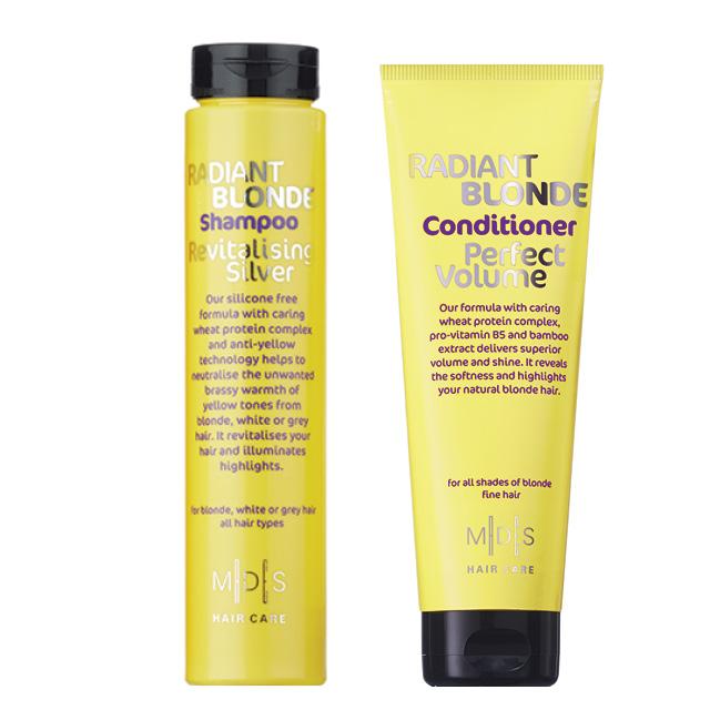 шампунь и кондиционером для светлых волос