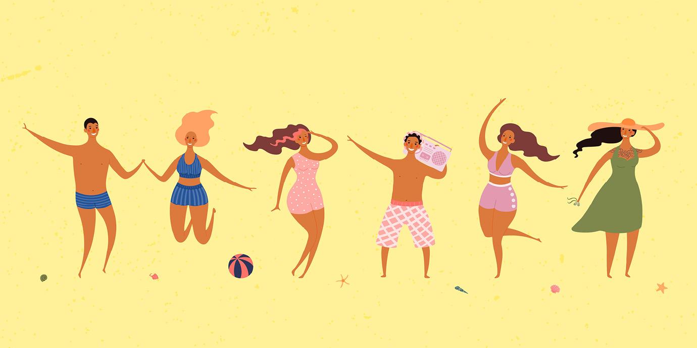 Солнцезащитные средства для отдыха на пляже
