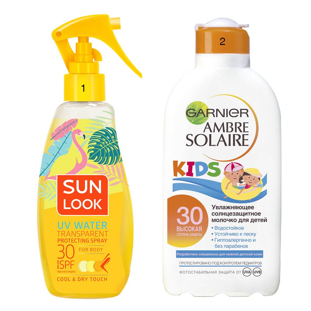 Солнцезащитные водостойкий средства