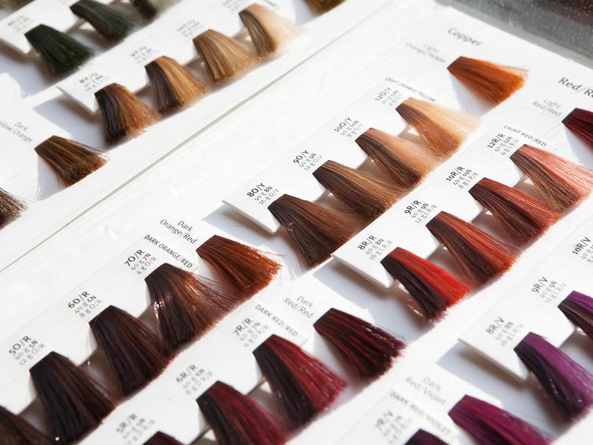 выбор оттенка краски для волос