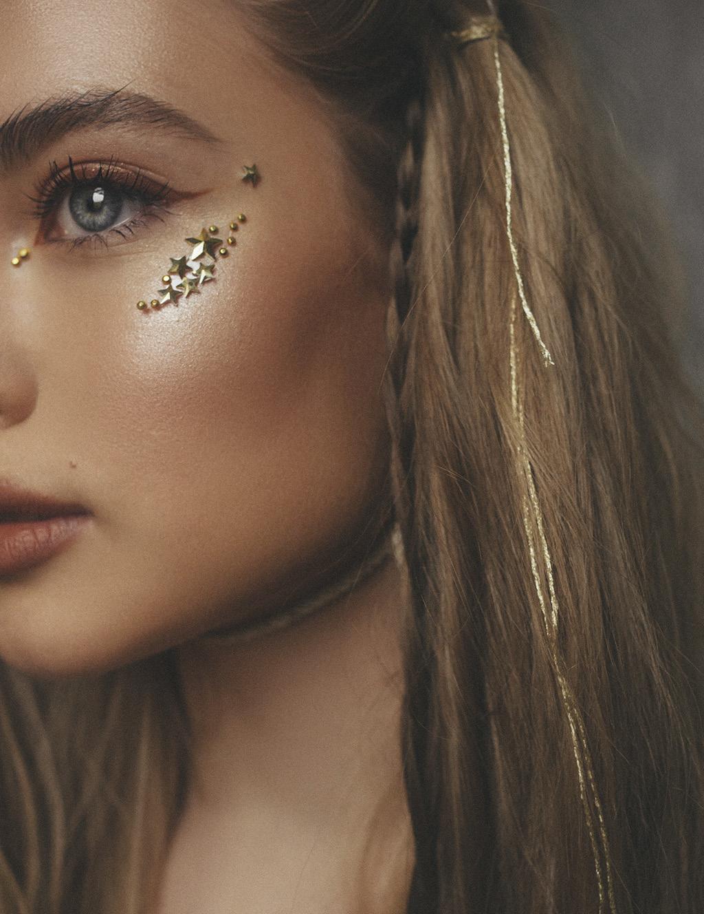 Фестивальный макияж кристаллы 3