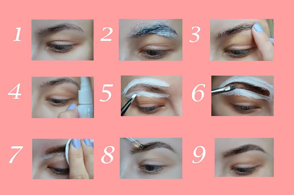 Инструкция для первого окрашивания бровей