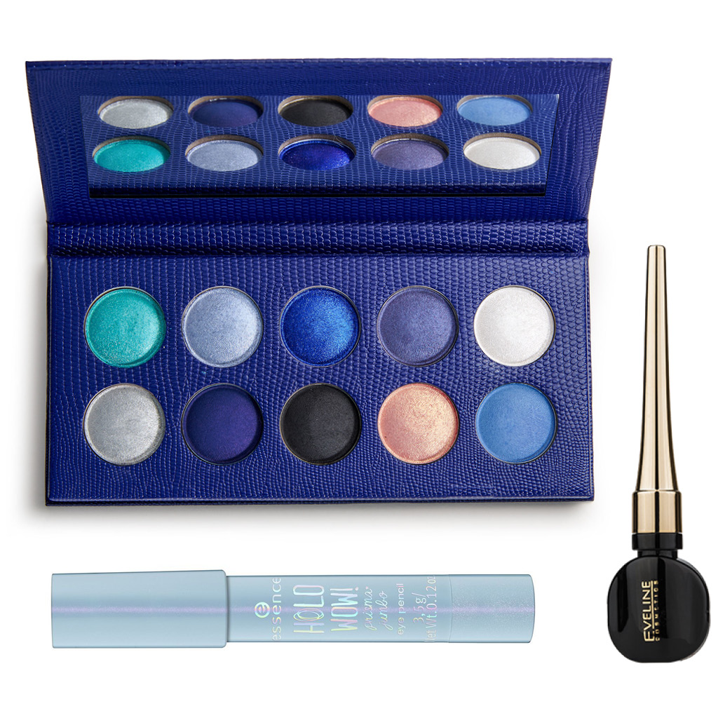 Легкий макияж синими тенями для голубых глаз средства