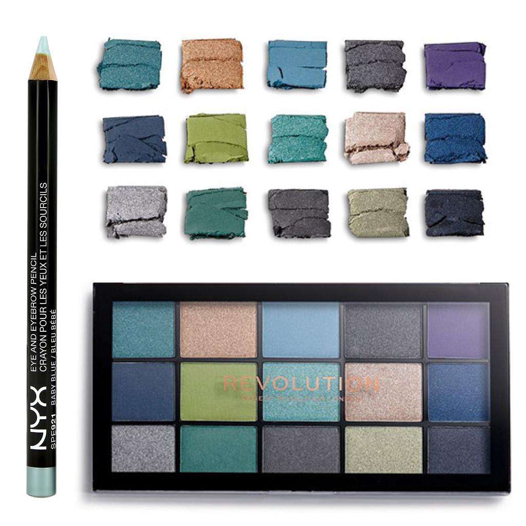 Легкий макияж синими тенями для карих глаз средства