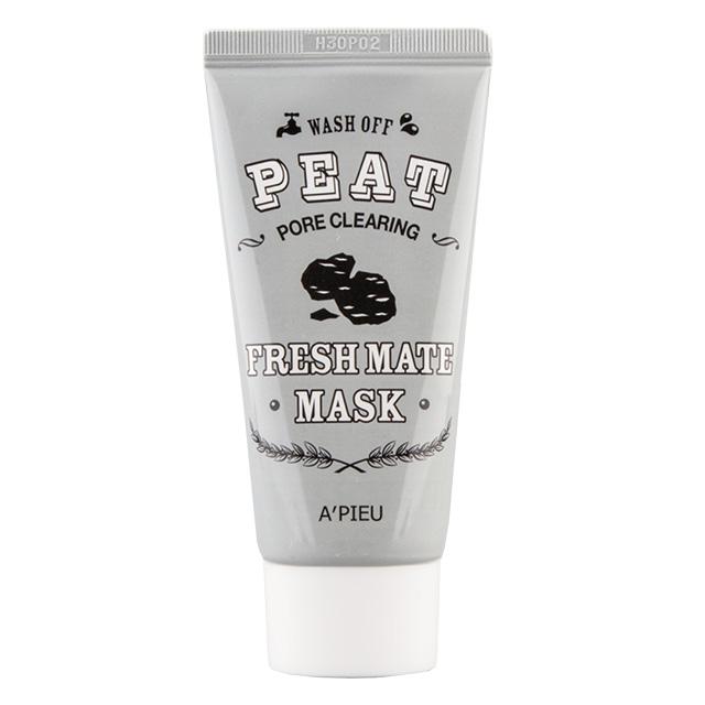Маска для лица A`Pieu Fresh Mate Mask очищающая с экстрактом торфа и древесным углем