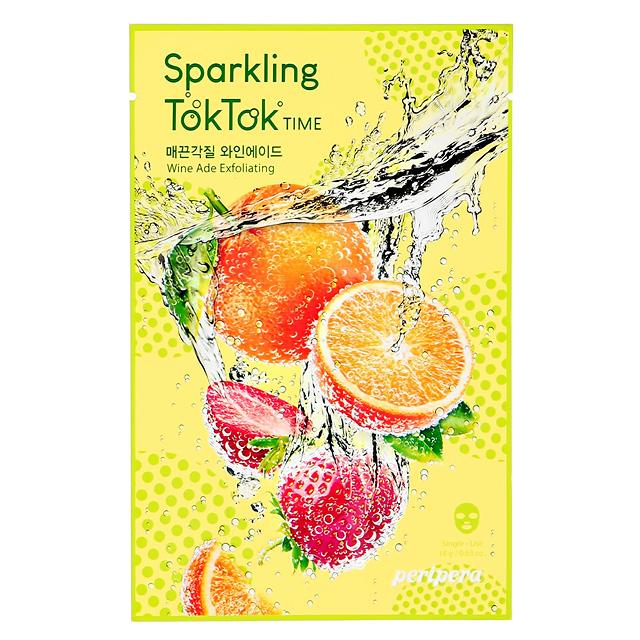 Маска для лица Peripera Sparkling Toktok Time с экстрактом вина (отшелушивающая)