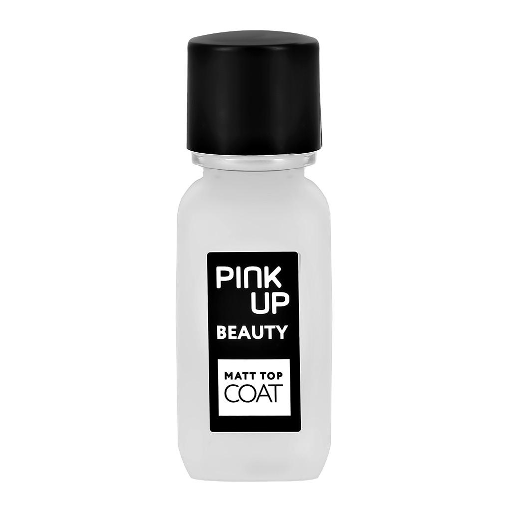 Матирующее верхнее покрытие для ногтей Pink Up Beauty, Matt Top Coat