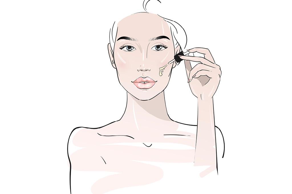 Не наносить тональный крем под маску