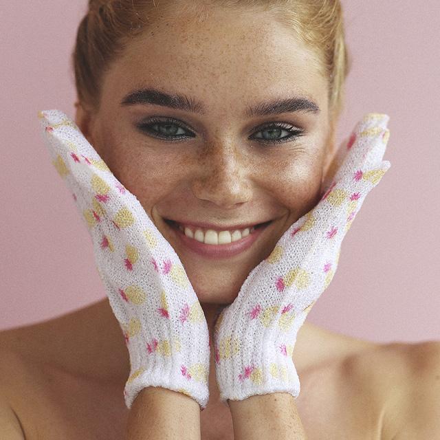 Отшелушивающие перчатки для душа Tropic Storm фото