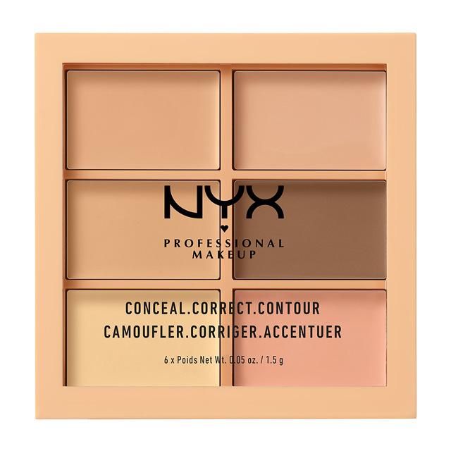 Палетка консилеров для лица Nyx Professional Makeup Conceal, Correct, Contour тон 301 light
