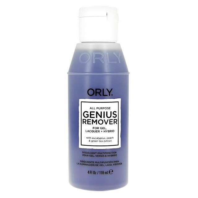 Жидкость для снятия лака, геля и блесток Orly Genius Remover универсальная