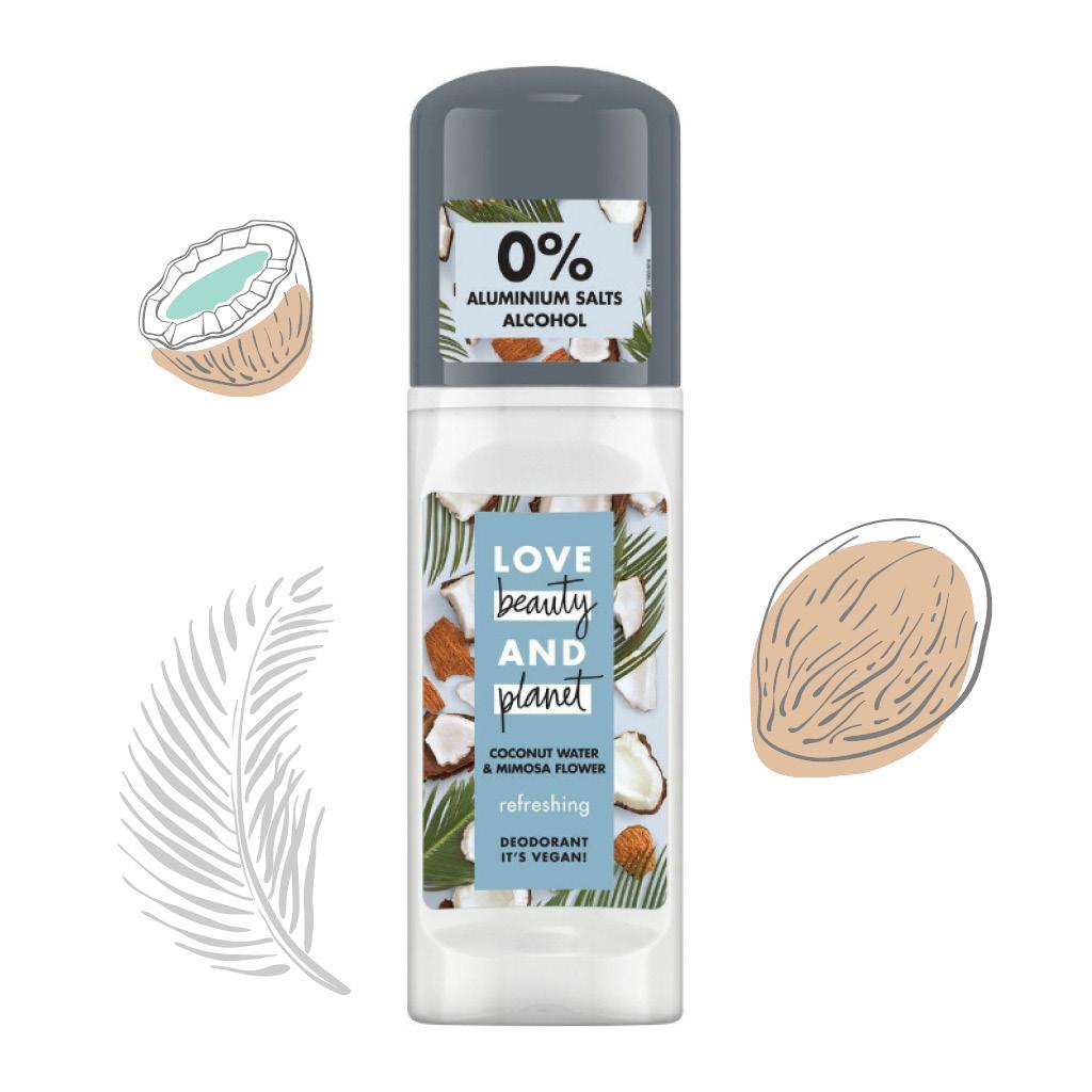 Дезодорант Coconut Water & Mimosa Flower, Love Beauty and Planet