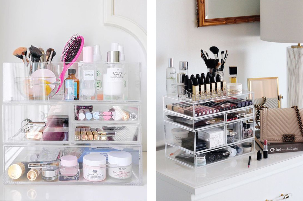 Хранение средств для макияжа