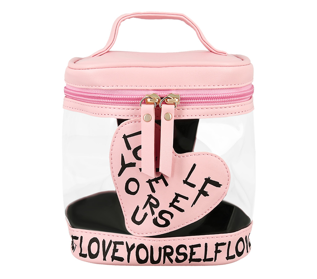 Косметичка-тубус Lady Pink розовая