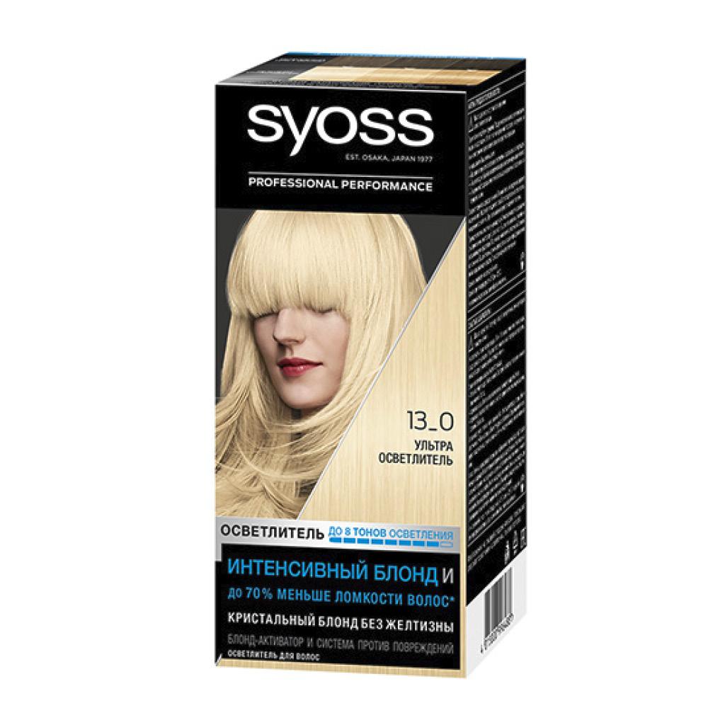 Краска для волос Syoss Salonplex тон 13-0 (Ультра осветлитель)